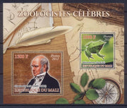 Mali 2012 Miniature Sheet Zoologists 2 Values Charles Darwin
