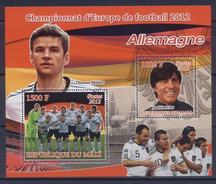 Mali 2012 Miniature Sheet European Football 2 Values Germany