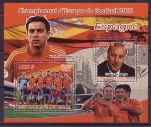 Mali 2012 Miniature Sheet European Football 2 Values Spain