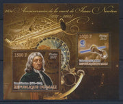 Mali 2012 Miniature Sheet 285Th Anniversary Death Isaac Newton 2 Values