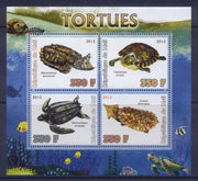 Mali 2012 Miniature Sheet Turtles 4 Values