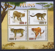 Mali 2012 Miniature Sheet Big Cats 4 Values