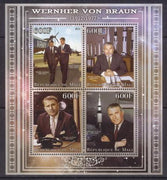 Mali 2013 Miniature Sheet Wernher Von Braun 4 Values