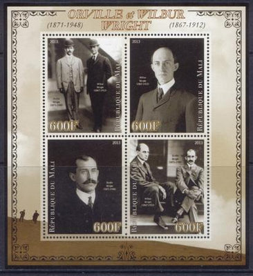 Mali 2013 Miniature Sheet Orville And Wilbur Wright 4 Values