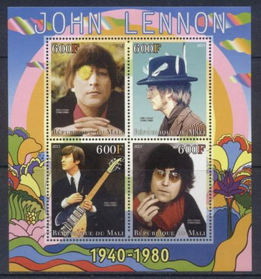 Mali 2013 Miniature Sheet John Lennon 4 Values