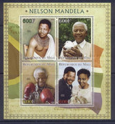 Mali 2013 Miniature Sheet Nelson Mandela 4 Values