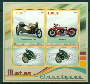 Mali 2013 Miniature Sheet Classic Motorcycles 2 Values + 2 Labels
