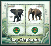 Mali 2013 Miniature Sheet Elephants 2 Values + 2 Labels
