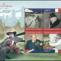 Mali 2015 Miniature Sheet 50Th Anniversary Death Of Winston Churchill 4 Values