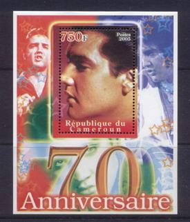 Cameroon 2005 Elvis presley 70th birth anniversary souvenir sheet #2
