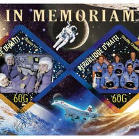 Haiti 2006 in memorium shuttle challenger soyuz 11 miniature sheet 2 values perf
