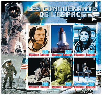 Gabon 2005 conquest of space miniature sheet 4 values perf