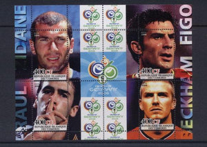 Comoros 2004  football germany 2006 world cup miniature sheet 4 values