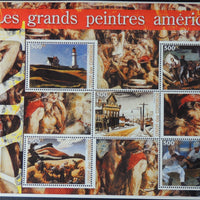 Comoros 2005  great american painters miniature sheet 5 values