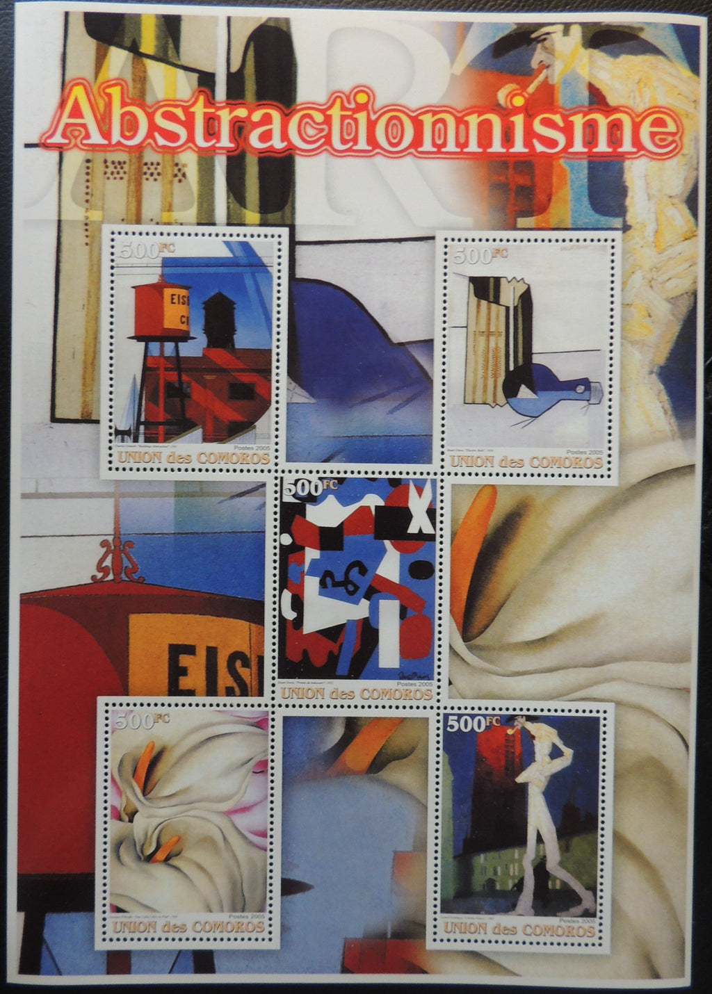 Comoros 2005  abstractionism miniature sheet 5 values