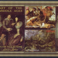 Afghanistan 2007 art of the middle ages peter paul rubens miniature sheet 2 values