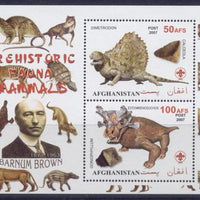 Afghanistan 2007 prehistoric fauna mammals barnum brown miniature sheet #3 2 values