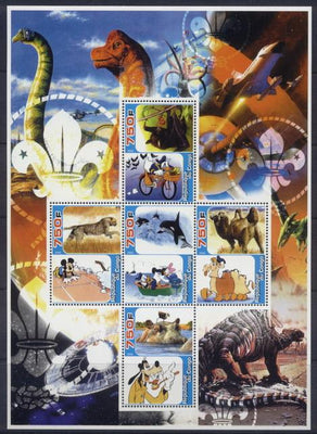 Congo 2005 animals and disney miniature sheet 5 values