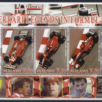 Malawi 2005 ferrari legends in formula 1 miniature sheet 3 values #2
