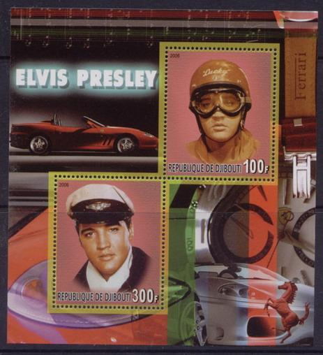 Djibouti 2006 elvis presley miniature sheet 2 values