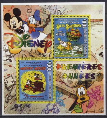 Djibouti 2006 disney premieres miniature sheet 2 values