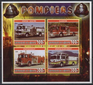 Djibouti 2006 fire department miniature sheet 4 values #4