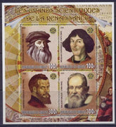 Djibouti 2006 great scientists of the renaissance miniature sheet 4 values