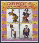 Djibouti 2006 robots heroes of cinema miniature sheet 4 values