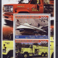 Djibouti 2006 concorde souvenir sheet 2 values #6