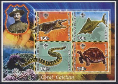 Djibouti 2005 baden powell miniature sheet 4 values #1