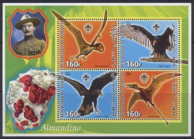 Djibouti 2005 baden powell miniature sheet 4 values #2