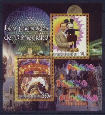 Djibouti 2007 disneyland miniature sheet 2 values #2