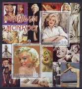 Djibouti 2007 marilyn monroe miniature sheet 4 values