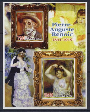 Mali 2006 artists pierre auguste renoir miniature sheet 2 values