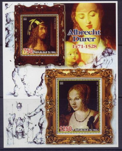Mali 2006 artists albrecht durer miniature sheet 2 values