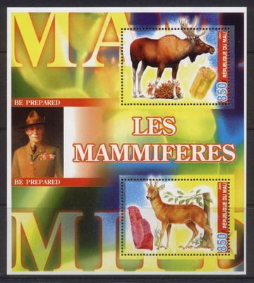 Mali 2005 mammals miniature sheet 2 values