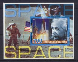 Mali 2005 space miniature sheet 2 values #2