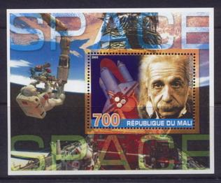 Mali 2005 space miniature sheet 2 values #3