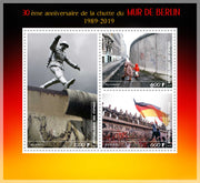 Congo 2019 Miniature Sheet 30th anniversary end of the berlin wall