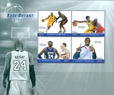 Madagascar 2020 sport basketball kobe bryant Miniature Sheet