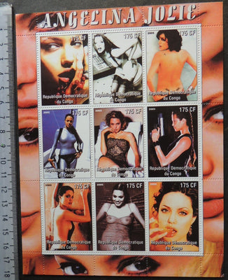 Congo 2005 angelina jolie movies cinema erotica women m/sheet MNH