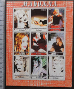 Congo 2005 madonna pops rock music movies cinema women m/sheet MNH