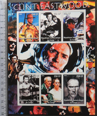 Congo 2005 clint eastwood movies cinema m/sheet MNH