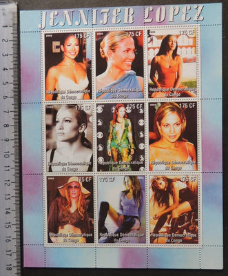 Congo 2005 jennifer lopez music pops movies cinema women m/sheet MNH