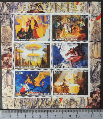 Benin 2003 hildebrandt fairy tales myths legends animation m/sheet MNH