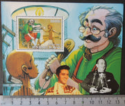 Benin 2003 elvis disney puppets pinocchio cinema cartoons souvenir sheet MNH #1