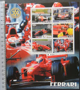 Benin 2003 sport motor car racing ferrari formula one rotary large m/sheet 6 values MNH