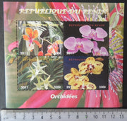 Benin 2011 flowers orchids m/sheet MNH