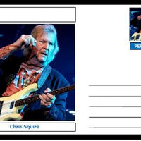 "Personalities - souvenir postcard (glossy 6""x4"", 260 gsm card) - Chris Squire - unused and superb"