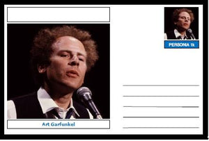 "Personalities - souvenir postcard (glossy 6""x4"", 260 gsm card) - Art Garfunkel - unused and superb"